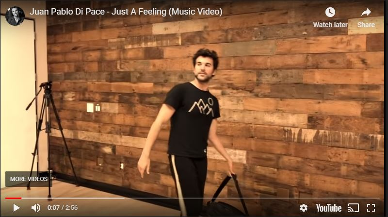 "JUAN PABLO DI PACE DEBUTS SINGLE ""JUST A FEELING"""