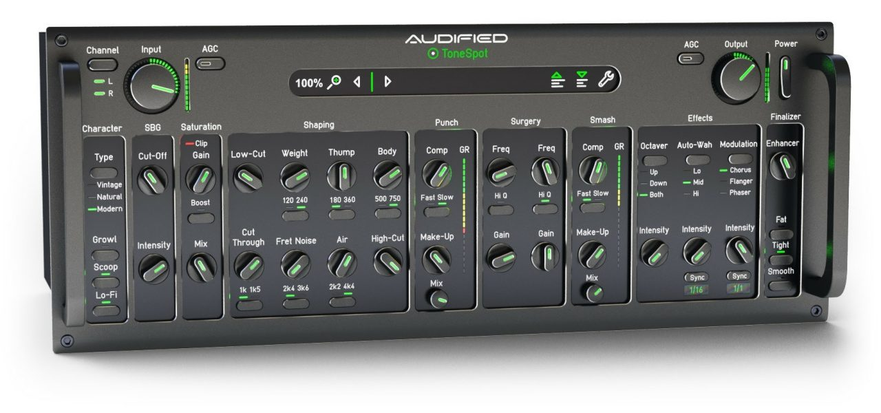 Audified aims opening ToneSpot series salvo squarely at bass tone sweet spot with pro processing power-providing plug-in