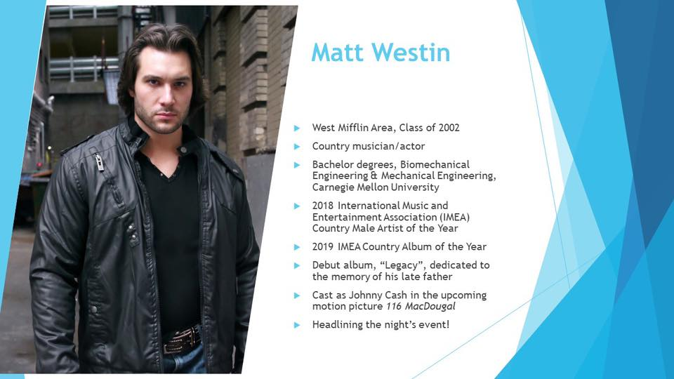 "Country Artist Matt Westin To Be Named ""Distinguished Alumni"" By High School Alma Mater"
