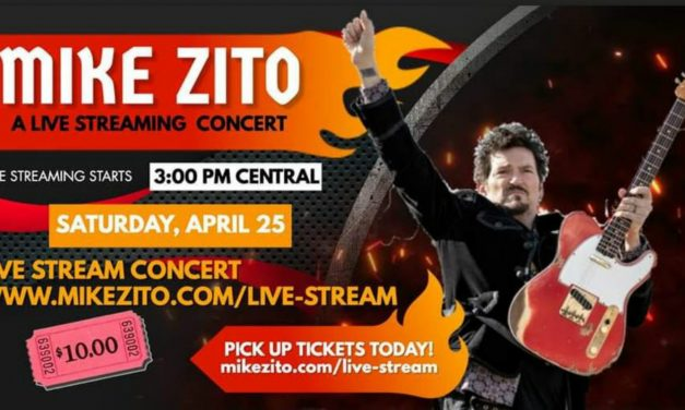 Mike Zito Live Streaming Electric Band Blues Concert…This Saturday!